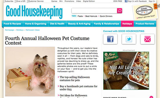 Good Housekeeping Halloween Marketing