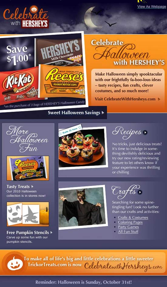 Hersheys Halloween Marketing
