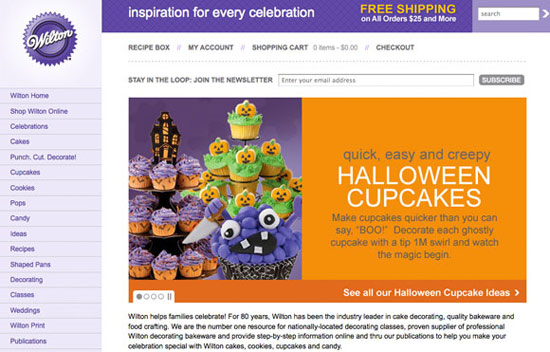 Wilton Halloween Marketing