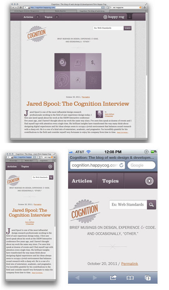 Cognition - Happy Cog's Responsive Design