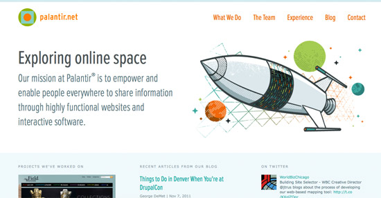Palantir Home Page Web Design