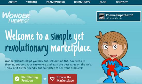 Wonder Themes Website Design