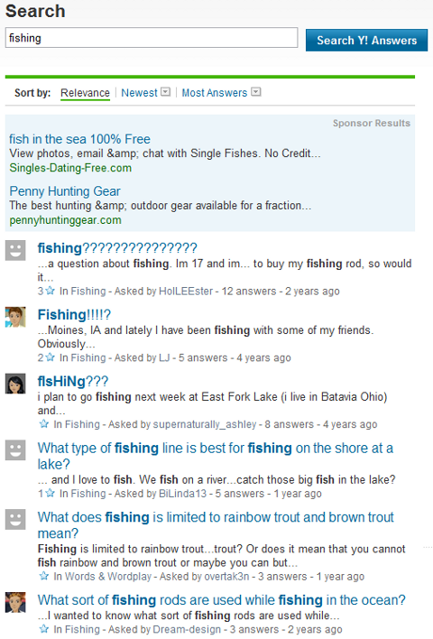 Using Yahoo Answers for Blog Topic Ideas