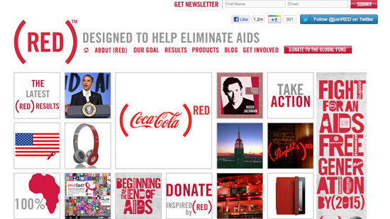 Red Non-Profit Website Design