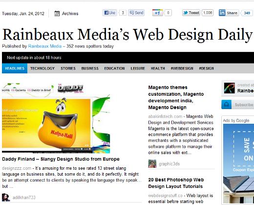 Web Design Paper.li