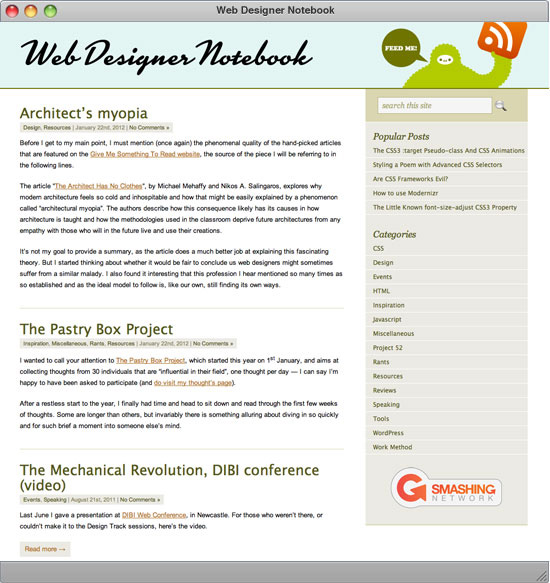 Web Designer Notebook