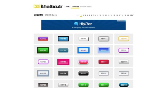 Show Case | CSS3 Button Generator