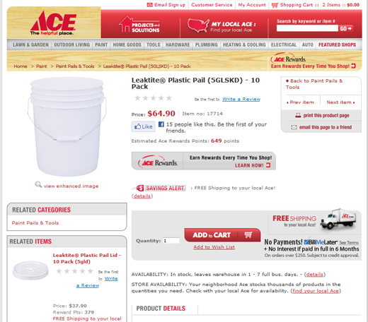 ACE Hardware product info page