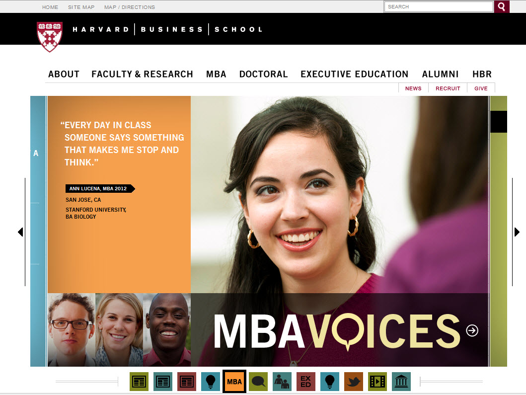 Harvard Business School Website Design Critique