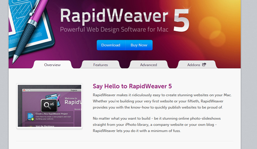 Rapidweaver Navigation