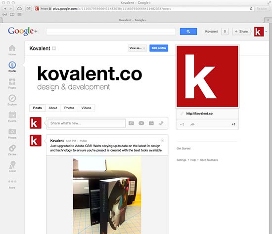 Kovalent on Google+