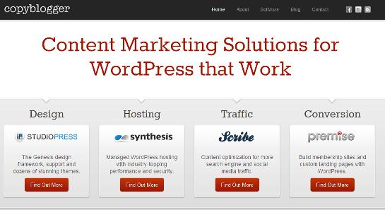 Copyblogger home page