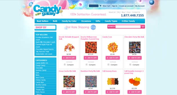 Candy landing page