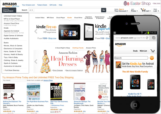 Amazon.com is a flagship example of an accessible website.