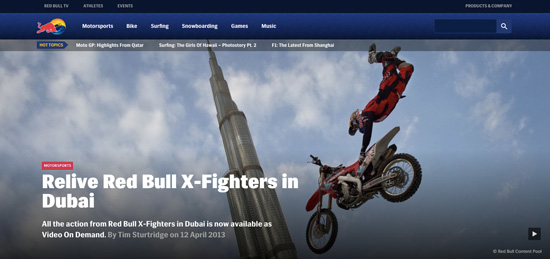 "Redbull  invites you to explore the ""world of Red Bull"" in form of the latest news and lots of videos and images."
