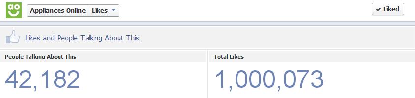 1 million fb fans