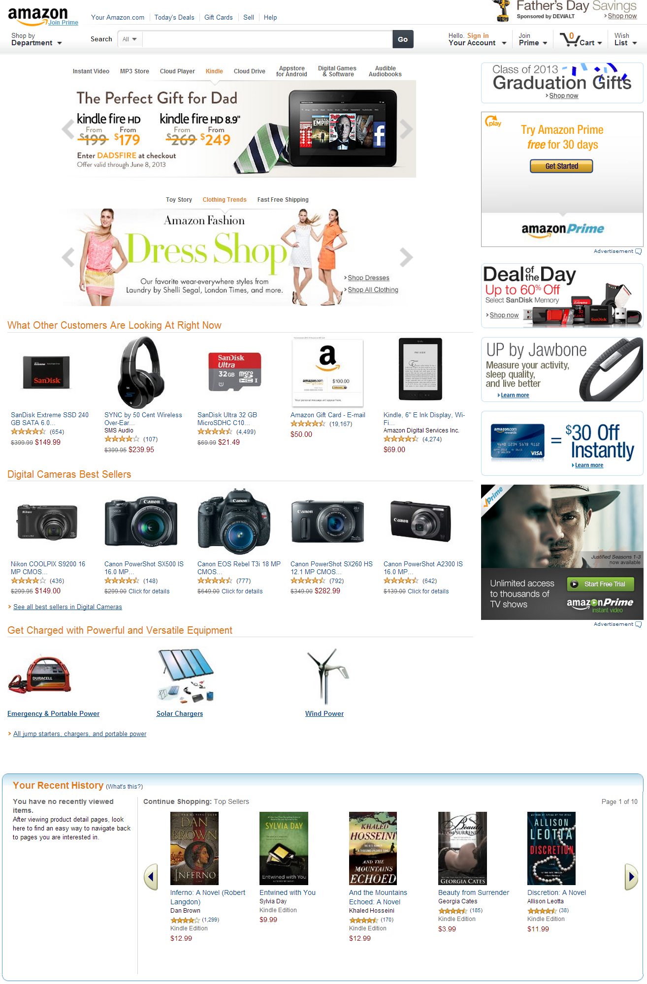 white space on Amazon page