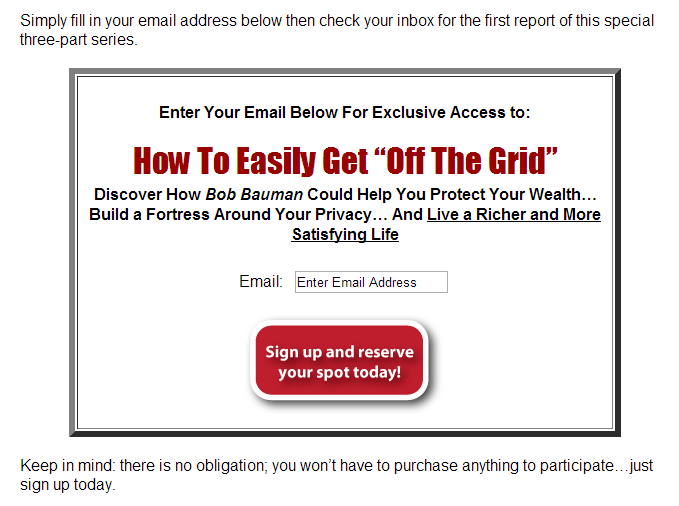 cta from off the grid promo