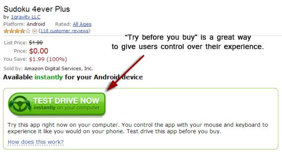 test drive an app
