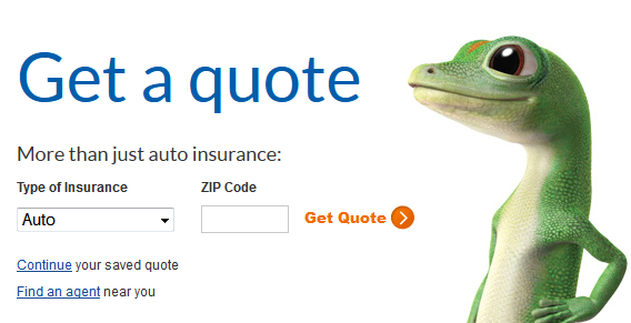 The little lizard-like thing from Geico looks at the headline which is guiding user flow on the page
