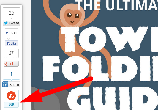 towel guide share count