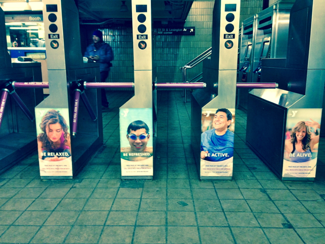 ads in New York subway
