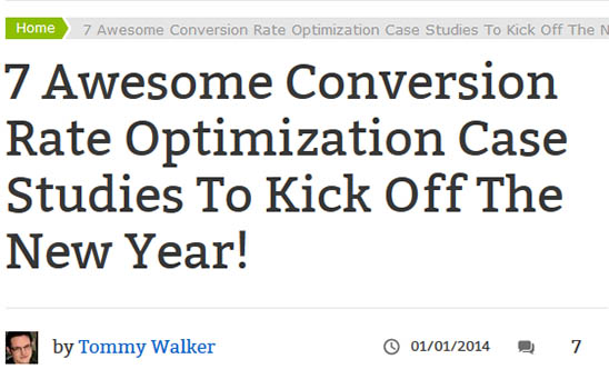 Awesome conversion case studies