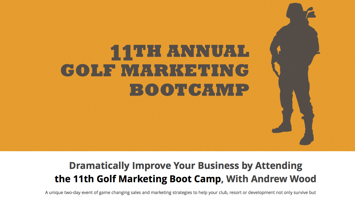 golf marketing boot camp