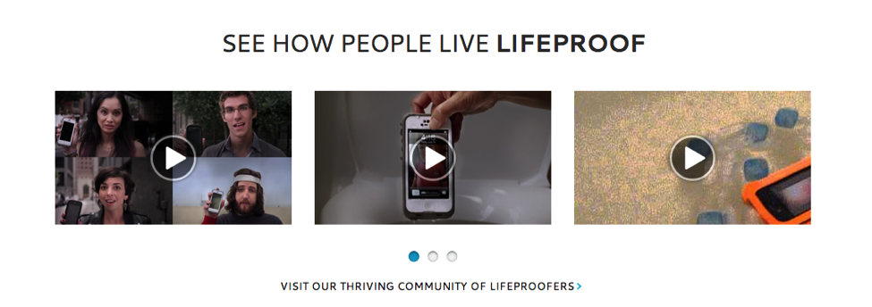 Videos about stories on Lifeproof Website