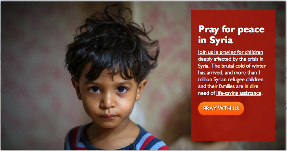 Pray For Peace In Syria Landing Page