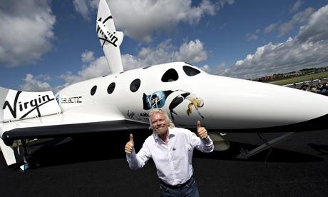 Richard Branson pose