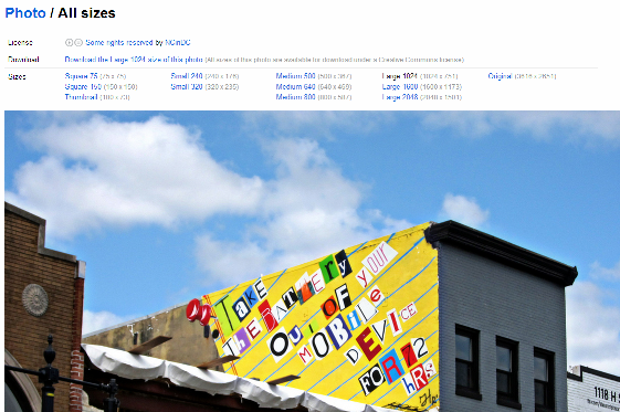 flickr download page