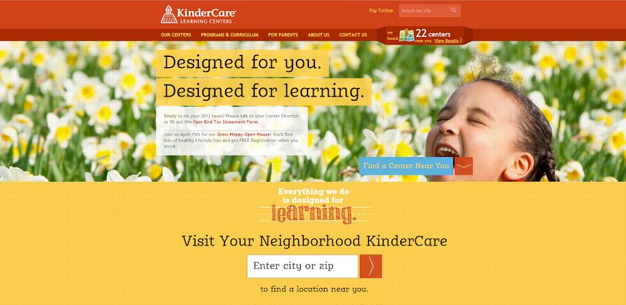 KinderCare's Homepage