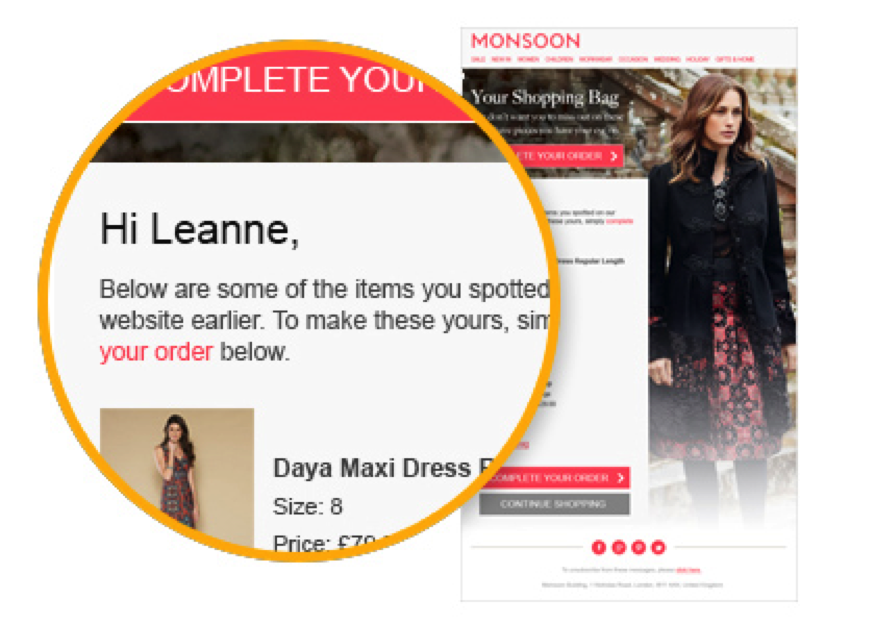 Many retargeting ads can remind a customer of the items they shopped for on your website previously
