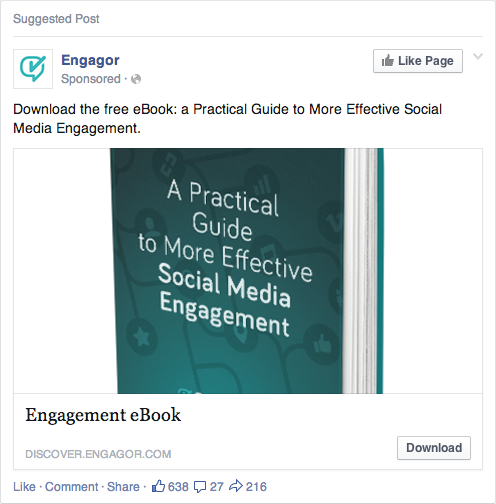 Engagor Facebook Ads