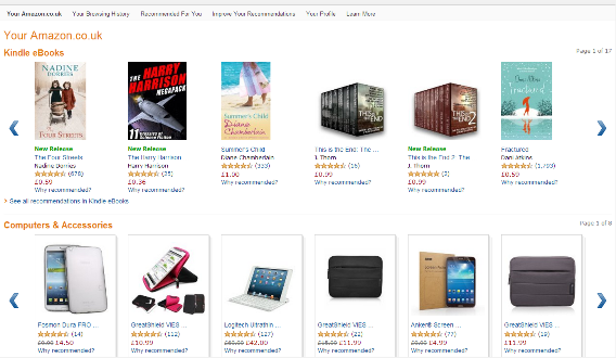 amazon personal page