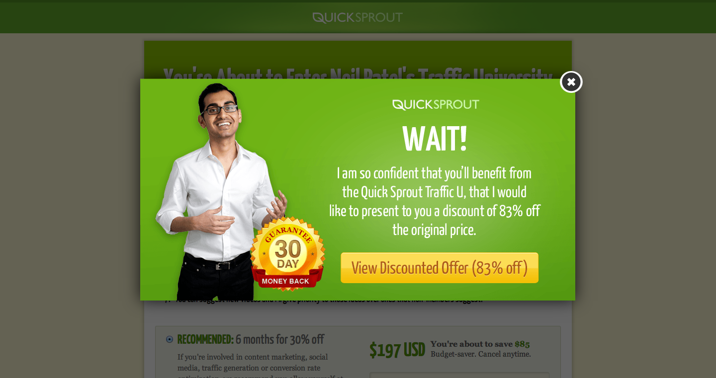 Neil Patel introduces urgency with an exit offer