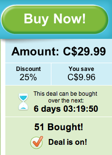 Groupon introduces urgency with a timer