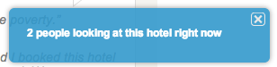 Hotels.com scarcity