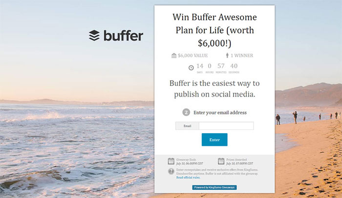 buffer giveaway