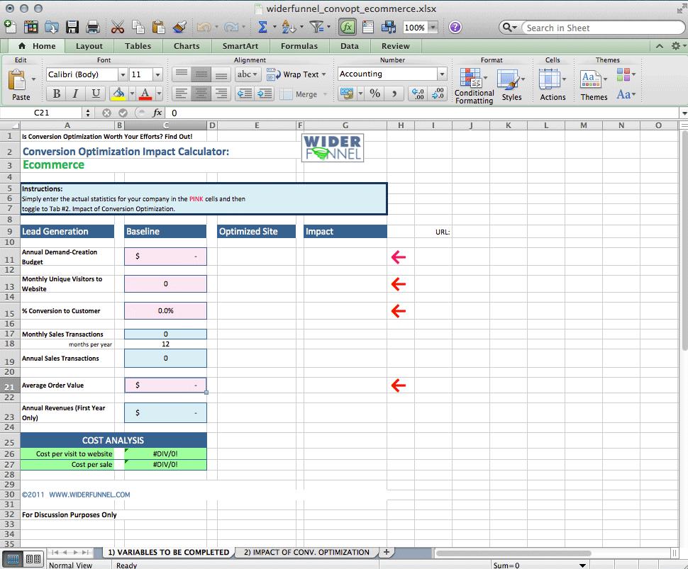 call to action sample metrics 4