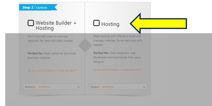 website builder hosting