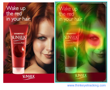 shampoo eye tracking ad