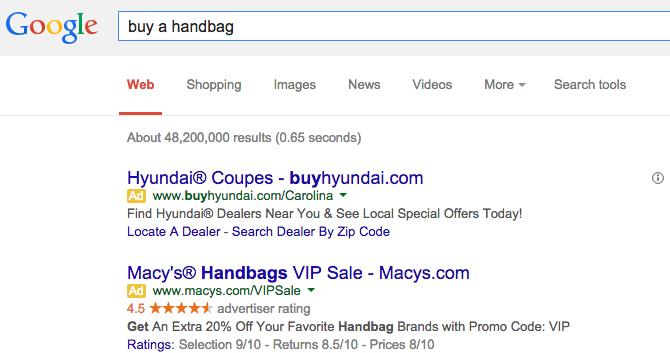 buy a handbag