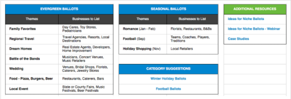 Holiday planning calendar