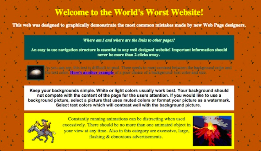 worlds worst website