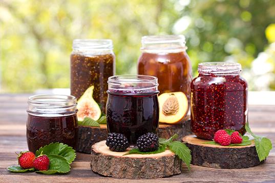 Homemade fruit jam in the jar