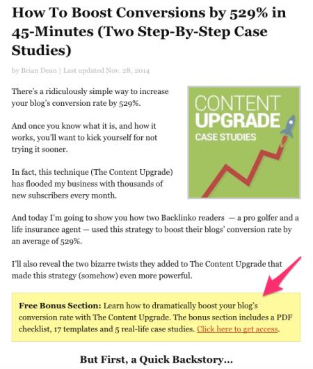 backlinko content upgrade