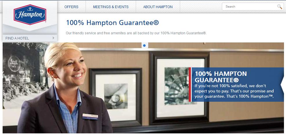 hampton guarantee