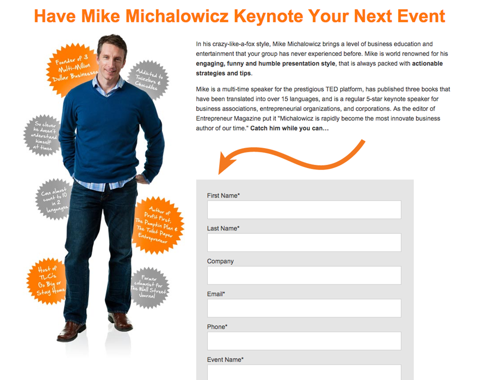 Mike Michalowicz sign up
